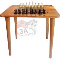 Ahşap Satranç Masası
