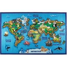 Hayvanlar Dünya Haritası Halı 200x290 cm
