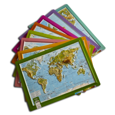 Kabartma Dünya Atlası A4
