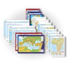 Dünya Coğrafya Seti ( 16 Harita 70x100)