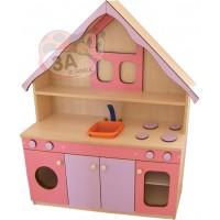 Çatılı Mutfak Seti Pembe