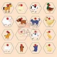 Hayvanlar ve Yavruları Puzzle
