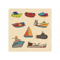 Ahşap Puzzle Deniz Taşıtları 30x30