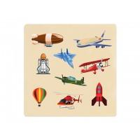 Ahşap Puzzle Hava Taşıtları 30x30
