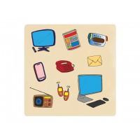 Ahşap Puzzle İletişim Araçları 30x30