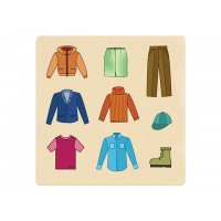 Ahşap Puzzle Kıyafetler 30x30