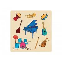 Ahşap Puzzle Müzik Aletleri 30x30