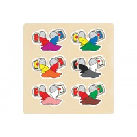 Ahşap Puzzle Renkler 30x30