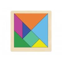 Ahşap Puzzle Tangram 30x30