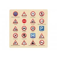 Ahşap Puzzle Trafik İşaretleri 30x30
