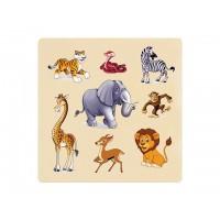 Ahşap Puzzle Vahşi Hayvanlar 30x30