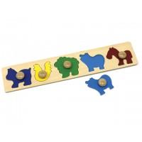 Ahşap Hayvan Şekil Puzzle