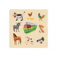 Ahşap Puzzle Çiflik Hayvanları 30x30
