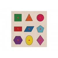 Ahşap Puzzle Geometrik Şekiller 30x30
