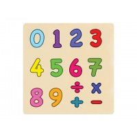 Ahşap Puzzle Sayılar 30x30