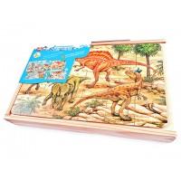 Dinozorlar Tema Puzzle 4 Lü Set