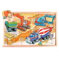 İş Makinaları Tema Puzzle 4 Lü Set