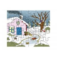 Mevsimler Puzzle Kış