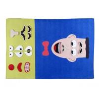 Cırtlı Kumaş Yüz İfadesi - Erkek