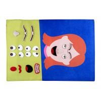 Cırtlı Kumaş Yüz İfadesi - Kız